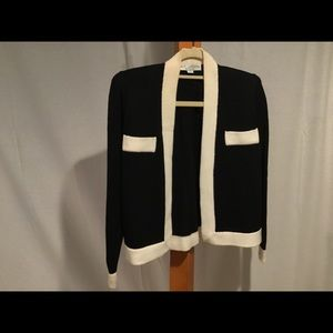St John Separates black ivory Open cardigan S